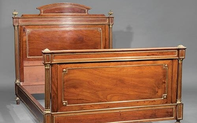 Empire-Style Brass-Mounted Mahogany Bedstead