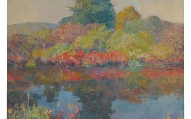 FRANK EARLE SCHOONOVER | BUSHKILL - A POND IN SUMMER