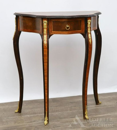 French Ormolu Mounted Rosewood Side Table