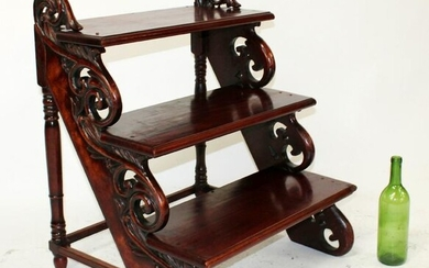 French pitch pine library stairs