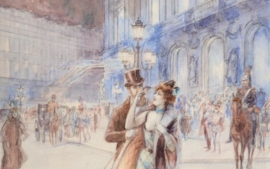 Georges Stein (1818-1890) French ''L'Opera, Paris'' Signed and inscribed ''Paris'',...