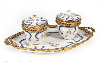 Gilt Bronze-Mounted Potpourri Set on Stand