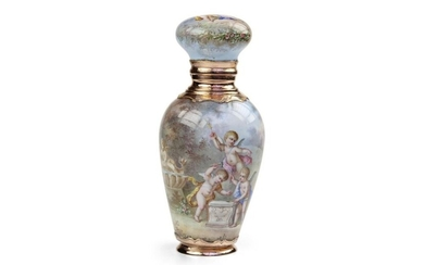 Gold and Enamel Perfume Bottle