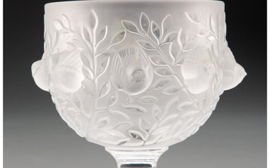 Lalique Clear and Frosted Glass Elisabeth Vase (post-1945)