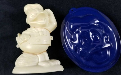 Lot of 2 Disney Donald Duck Character Sugar Molds