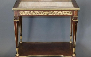 Louis XVI Manner Gilt Bronze Mounted Table de Dame