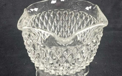 Molded Glass Footed Candy Dish