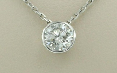 Necklace with diamond solitaire pendant