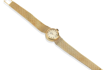 Omega: An 18k gold automatic wristwatch