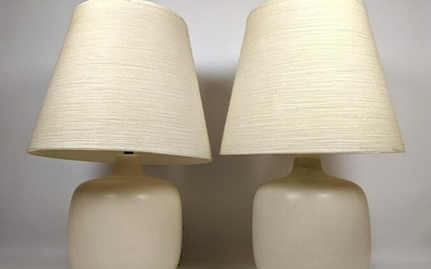 Pair LOTTE BOSTLUND Table Lamps with Original Shades.