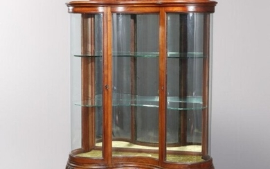 RJ Horner School French Style Serpentine China Cabinet