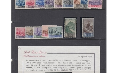 SAN MARINO STAMPS Various better sets & singles on album pag...