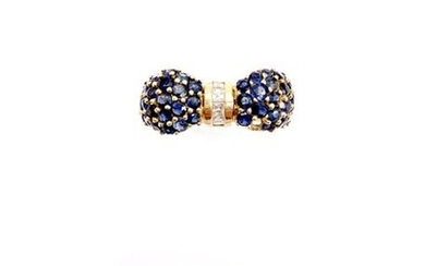 SET OF 2 RINGS in yellow gold 750...