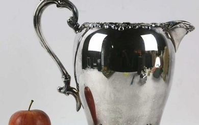 SHERIDAN ANTIQUE SILVER PLATE PITCHER