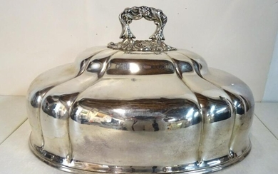 "SILVERPLATE MEAT COVER 8""H 14""L 10""D"