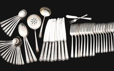 STERLING SILVER FLATWARE SET.