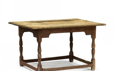 Southern Painted Stretcher Base Tavern Table