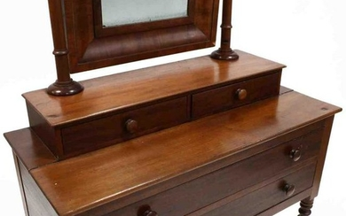 Southern Sheraton Dressing Table With Mirror