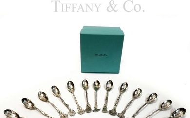 Tiffany & Co Sterling Silver Set of 13 Demitasse Spoons