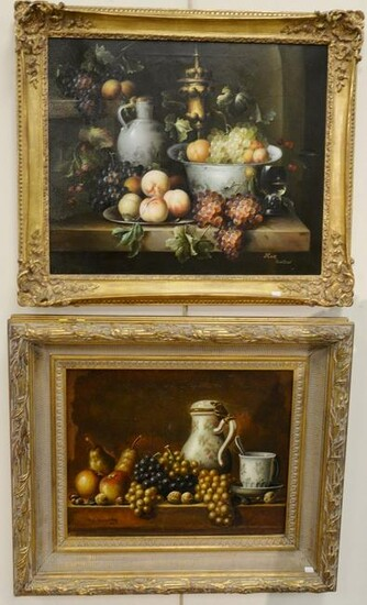 Two contemporary still lifes of fruit, Scheurenberg 16""