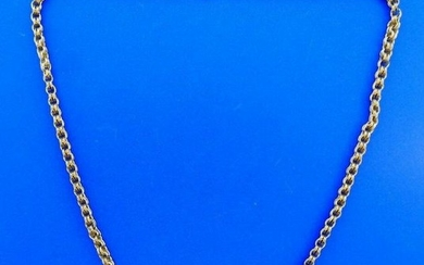 VICTORIAN 9k Yellow Gold Chain Necklace Circa 1900s