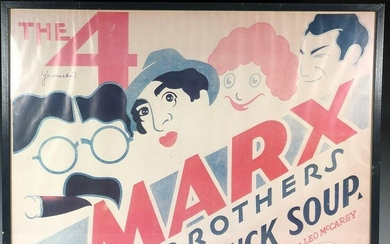 Vintage Movie Poster THE 4 MARX BROTHERS DUCK SOUP