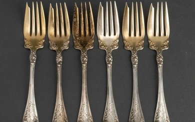 Wallace Rose Pattern Sterling Silver Forks, 6