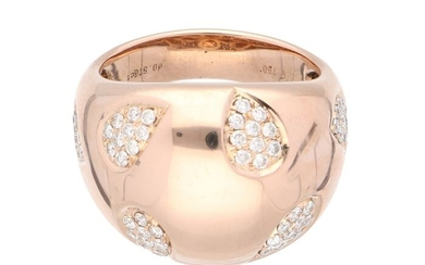 18 kt. Pink gold - Ring - 0.30 ct Diamond