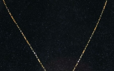 18 kt. Yellow gold - Necklace with pendant - 1.00 ct Topaz