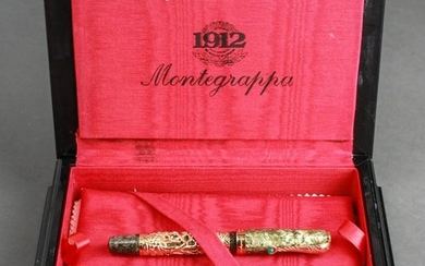 18K Gold Montegrappa Zodiac Monkey Fountain Pen