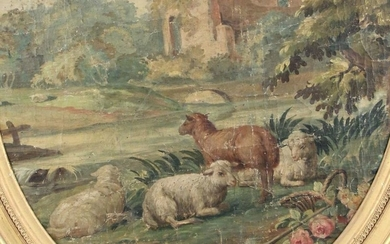 18th century FRENCH school ? Pair of pastoral...