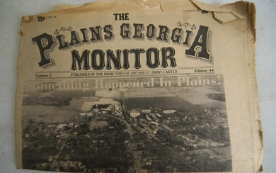 1978 Issue The Plains Georgia Monitor Larry Flynt