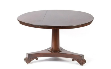 19TH C ROSEWOOD TILT TOP TABLE