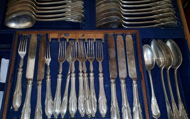 19th Century Elkington & Company 204-Piece Silver Set