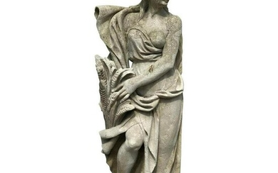20th Century Stone Statue of Vicenza Depicting the