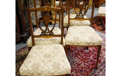 4 ROSEWOOD OCCASIONAL CHAIRS