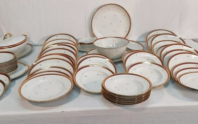 54 PC. FRENCH LIMOGES PARTIAL DINNER SERVICE