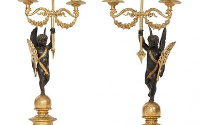 61095: A Pair of French Louis Phillipe Gilt and Patinat