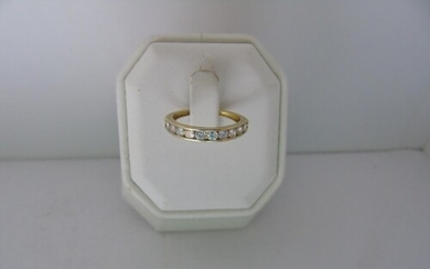 A 9ct gold half eternity ring size N 1/4
