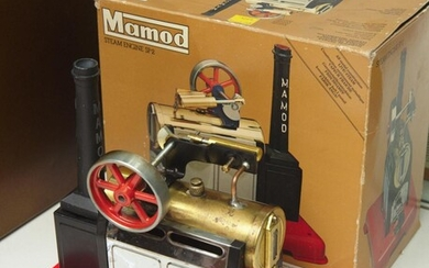 A BOXED MAMOD S2 LIVE STEAM ENGINE, (UNTESTED)