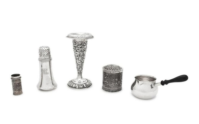 A Collection of Three Silver Table Articles