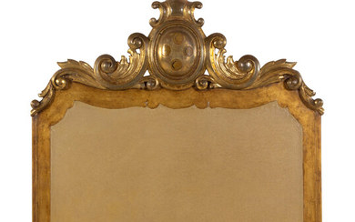 A Continental Carved Giltwood Headboard
