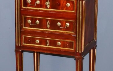 A Late 19th/Early 20th Century French Mahogany and Brass...