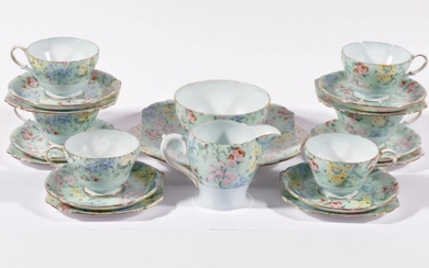"""A Shelley """"Melody"""" Tea Service for Six"""