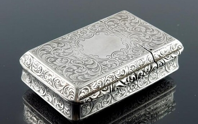 A Victorian silver double action snuff box, Alfred