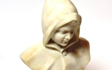 A late 19th century marble bust, 26.5cm high