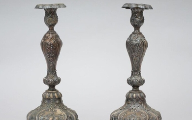 A pair of silver Louis-Philippe candlesticks (31cm)