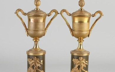 A set of early 19th century ormolu bronze Empire