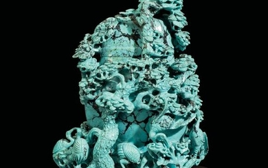 A turquoise vase, China, Qing Dynasty, 1800s