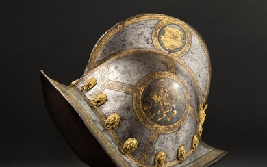 An etched and gilt morion for the Saxon trabant guard, Nuremberg, end of the 16th century